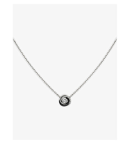 CARTIER Trinity de Cartier 18ct white-gold and diamond necklace