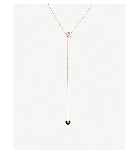 CARTIER Amulette de Cartier 18ct rose-gold, onyx, mother-of-pearl and diamond necklace