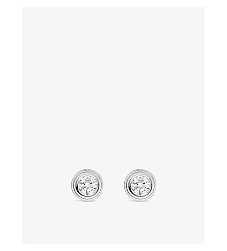 CARTIER Diamants Légers de Cartier 18ct white-gold and diamond earrings