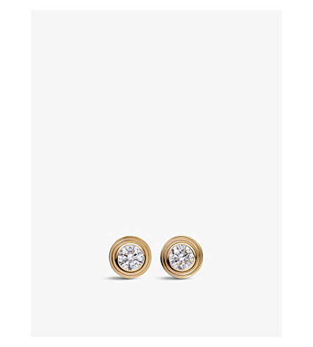 CARTIER Diamants Légers de Cartier 18ct yellow-gold and diamond earrings