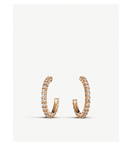 CARTIER Etincelle de Cartier 18ct rose-gold and diamond small hoop earring