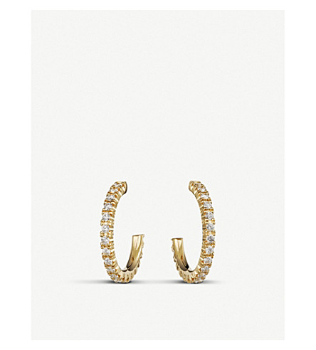 CARTIER Etincelle de Cartier 18ct yellow-gold and diamond small hoop earring
