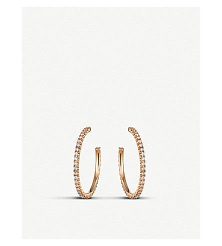 CARTIER Etincelle de Cartier 18ct rose-gold and diamond medium hoop earring