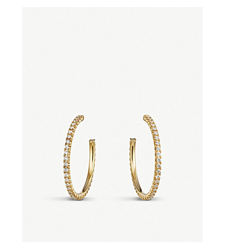 CARTIER Etincelle de Cartier Medium Hoop Earring - Yellow Gold