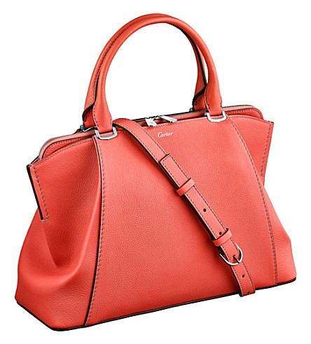CARTIER C de Cartier leather small tote