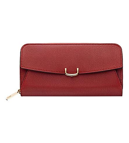 CARTIER C de Cartier zipped leather wallet