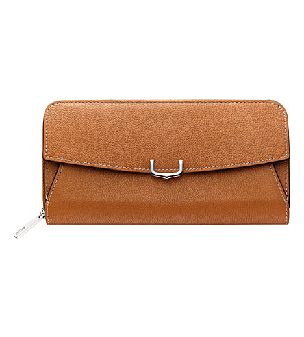 CARTIER C de Cartier leather zipped international wallet