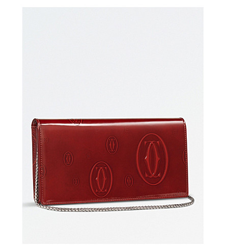 CARTIER Happy Birthday International chain leather wallet