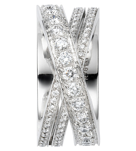 CARTIER Lignes 18ct white-gold and diamond ring
