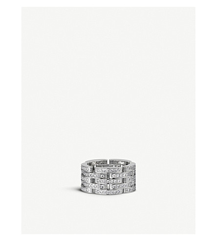 CARTIER Maillon Panthère 18ct white-gold and diamond link ring