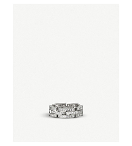 CARTIER Maillon Panthère 18ct white-gold and diamond ring