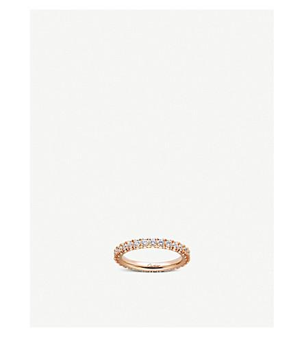 CARTIER Lignes 18ct 粉红色金色和钻石婚礼带