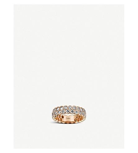 CARTIER Coup d'Eclat de Cartier 18ct rose-gold and diamond wedding band