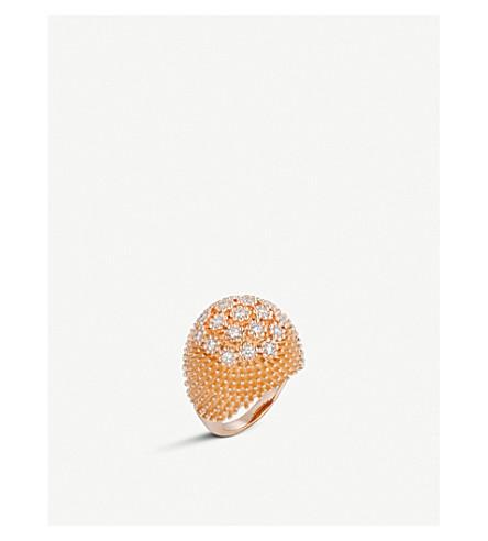 CARTIER Cactus de Cartier 18ct rose-gold and diamond ring