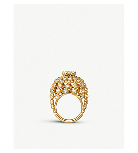 CARTIER Cactus de Cartier 18ct yellow-gold and diamond ring
