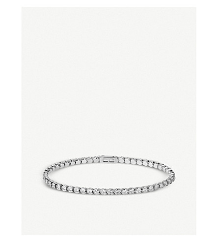 CARTIER Lignes 18ct white-gold and diamond bracelet