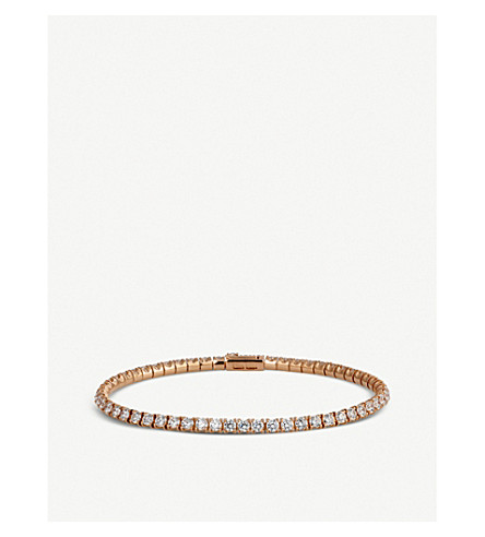 CARTIER Lignes 18ct pink-gold and diamond bracelet