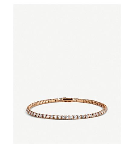 CARTIER Lignes 18ct 粉红色金色和钻石手镯