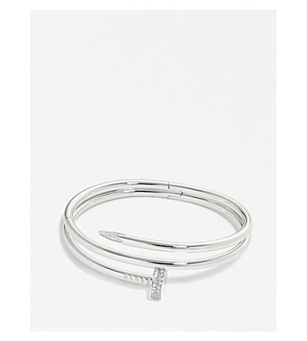 CARTIER Juste un Clou 18ct white-gold and diamond bracelet