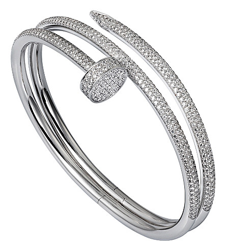 CARTIER Juste un clou 18ct white-gold and diamond double bracelet
