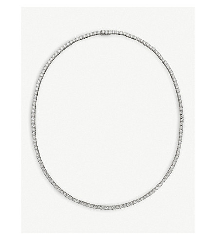 CARTIER Lignes 18ct white-gold and diamond necklace