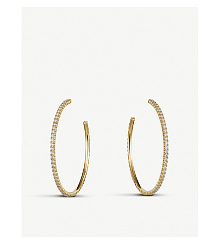 CARTIER Étincelle de Cartier 18ct yellow-gold hoop earrings