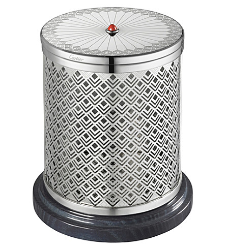 CARTIER Art Deco scented candle and holder