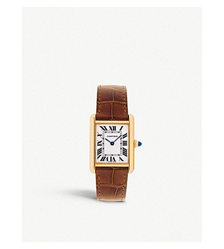 CARTIER Tank Louis Cartier 18ct yellow gold watch
