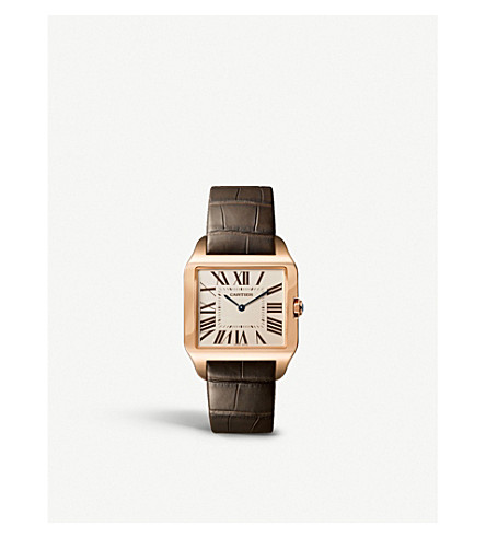 CARTIER Santos 18ct pink gold watch