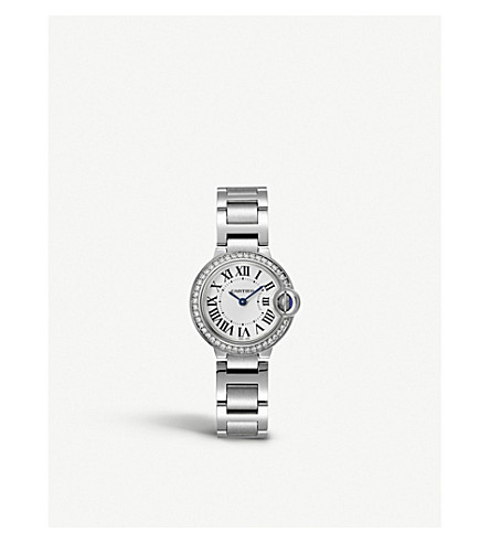 CARTIER Ballon Bleu de Cartier steel and diamond watch