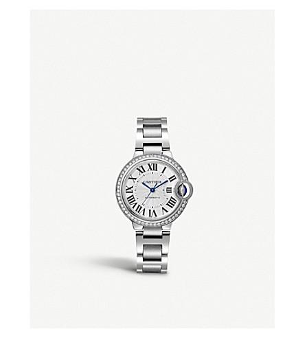 CARTIER Ballon Bleu de Cartier steel and diamond watch