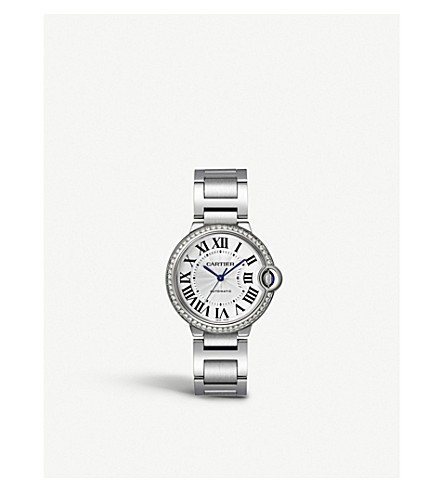 CARTIER Ballon bleu de cartier diamond and stainless steel watch