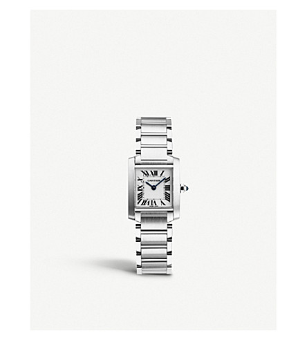 CARTIER Tank Française stainless steel watch