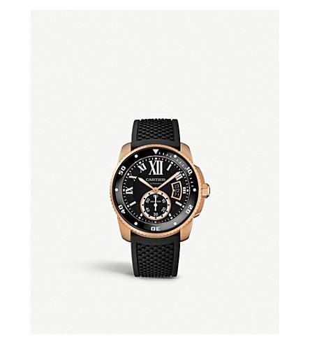 CARTIER Calibre de Cartier Diver 18ct pink-gold watch