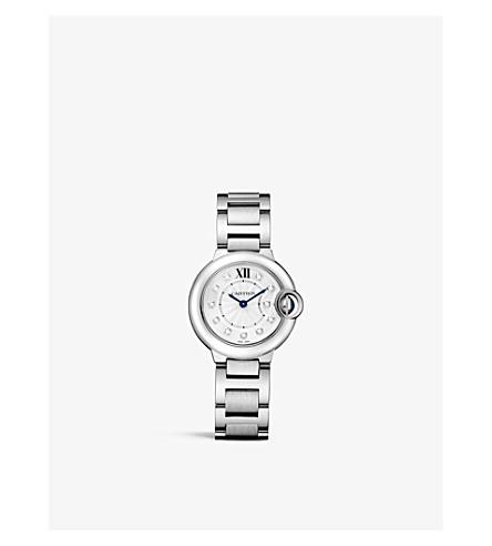 CARTIER 蓝气球 de Cartier 钻石和不锈钢腕表