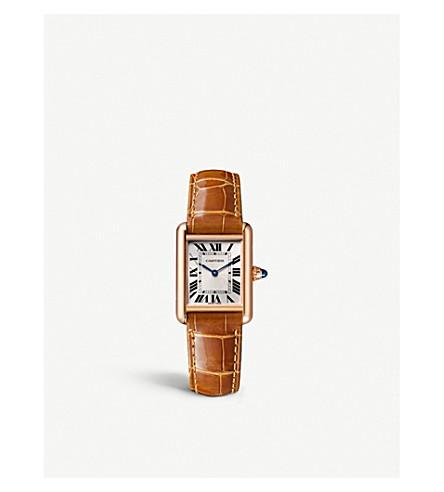 CARTIER Tank Louis Cartier 18ct pink-gold watch