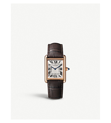 CARTIER Tank Louis Cartier 18ct pink-gold watch