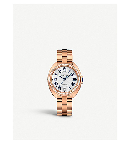 CARTIER Cartier Clé de Cartier 18ct pink-gold and diamond watch