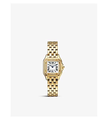 CARTIER Panthère 德 Cartier 18ct 黄金钻石手表