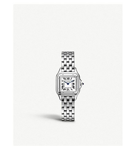 CARTIER Panthère de Cartier small stainless steel watch