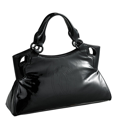 CARTIER Marcello de Cartier small calfskin tote (Black