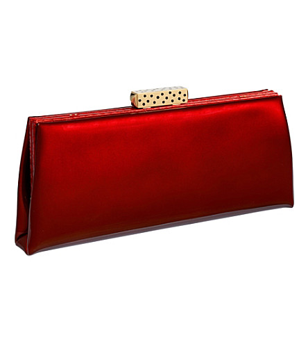 CARTIER Evening calfskin clutch (Red