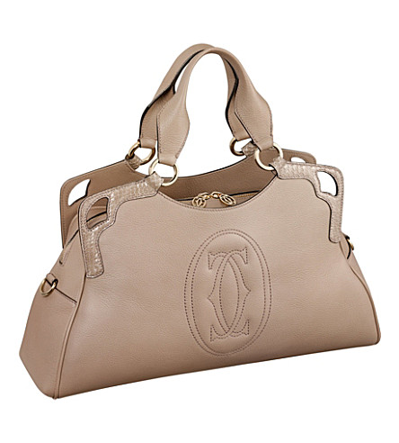 CARTIER Marcello de Cartier worldwide calfskin tote (Taupe