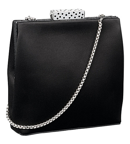 CARTIER Square satin evening bag (Black