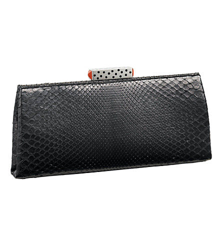 CARTIER Snake skin clutch bag (Black