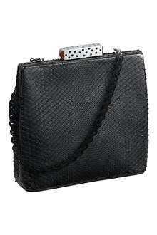 CARTIER Square snake skin clutch bag