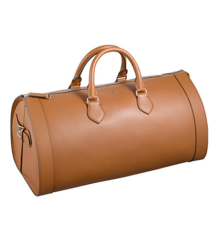 CARTIER Louis Cartier 24-hour leather bag (Caramel