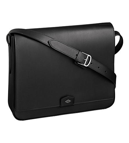 CARTIER Louis Cartier leather messenger bag (Black