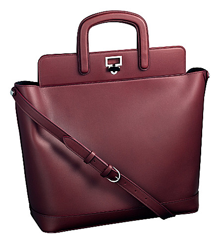 CARTIER Jeanne Toussaint leather tote (Burgundy