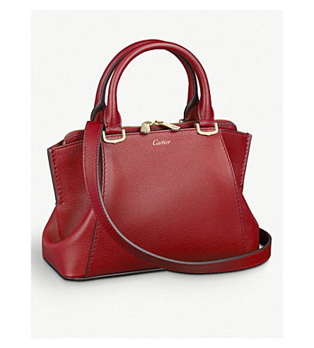 CARTIER C de cartier leather small tote (Red